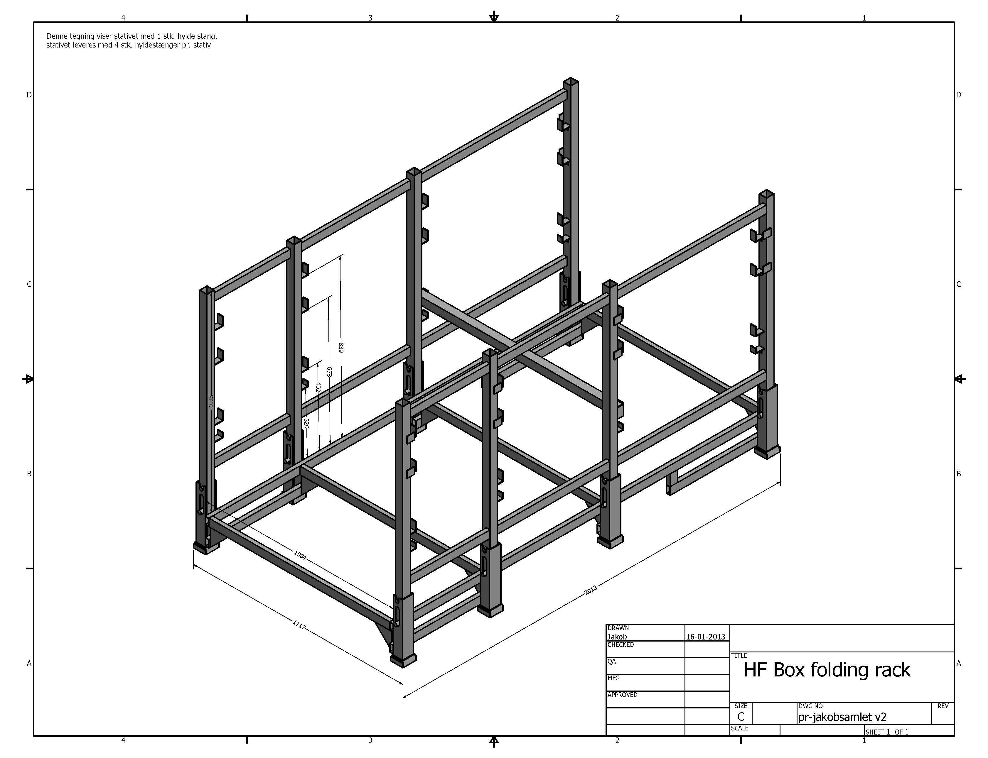 Box folding rack